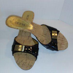 GUESS Womens Size 7 Peep Toe Heel Shoes
